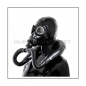 Mobile Preview: Deluxe M41-GP5 gasmask-zipperhood-system SMELLBAG-M with neckrespirator-rubbersmellbag-set