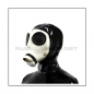 Preview: Deluxe gasmask-zipper-hood HR-Z in white - model Z56