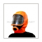 Preview: Deluxe gasmask-zipper-hood HR-X with panoramic-view - model Climax orange