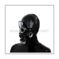 Preview: Deluxe gasmask-zipper-hood HR-P4 with four gasmasks threads and three thread cover - model PMK