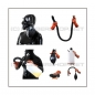 Preview: Deluxe PMK-2TA gasmask-zipperhood-system ULTIMATE-P with tube-set, sniffdildo, inhaler-set and rebreathing-bag-set