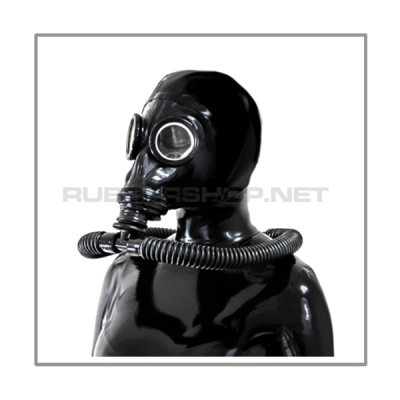 Deluxe M41-GP5 gasmask-zipperhood-system PROTECT-M with ringtube-set and rebreathing-bag