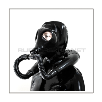 Deluxe M85 gasmask-zipperhood-system SMELLBAG-I with neckrespirator-rubbersmell-bag-set