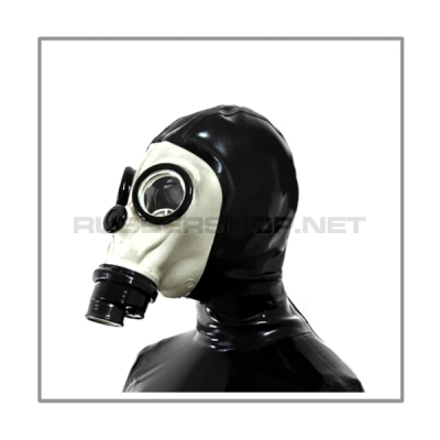 Deluxe FASER gasmask-zipperhood-system PROTECT-F with ringtube-set and rebreathing-bag