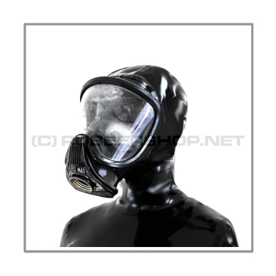 Deluxe gasmask-zipper-hood HR-E with panoramic-view - model Draeger ELITE