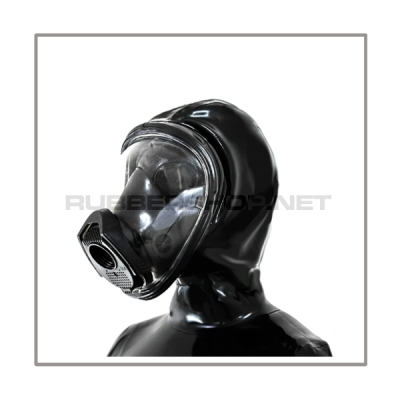 Deluxe gasmask-zipper-hood HR-D with panoramic-view - model Draeger FUTURA
