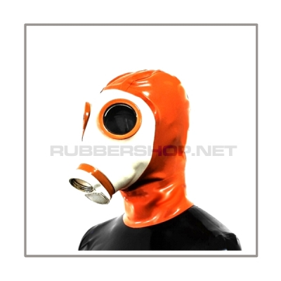 Deluxe gasmask-zipper-hood HR-Z in white - model Z56