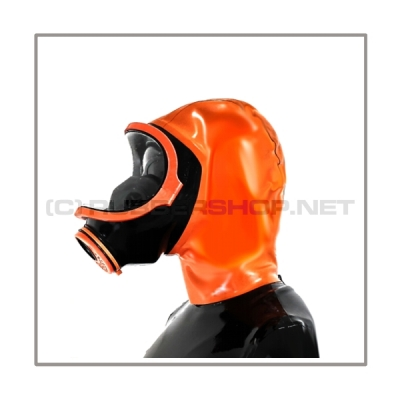 Deluxe CLIMAX gasmask-zipperhood-system HEAVY-X with rebreathing-bag-set