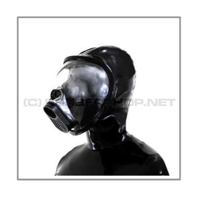Deluxe gasmask-zipper-hood HR-L with panoramic-view - model PIRELLI