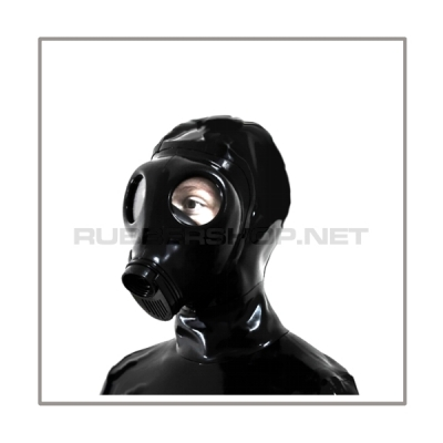 Deluxe M85 gasmask-zipperhood-system PROTECT-I with ringtube-set and rebreathing-bag