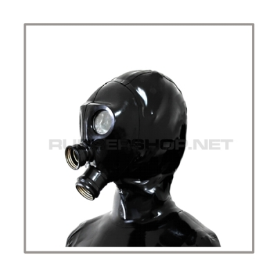 Deluxe NEORGA gasmask-zipperhood-system HEAVY-N with rebreathing-bag-set