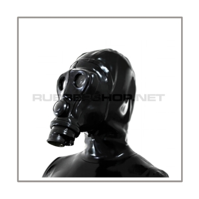 deluxe SIMIAN gasmask-zipperhood-system HEAVY-A with rebreathing-bag-set