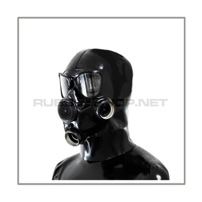 Deluxe gasmask-zipper-hood HR-P2 with two gasmasks threads and thread cover - model PMK