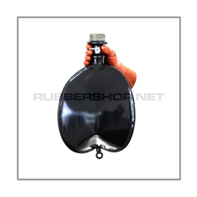Rebreathing bag RB-G6 with gasmaskthread-port, breathingreduction-adaptor and 6 litre volume