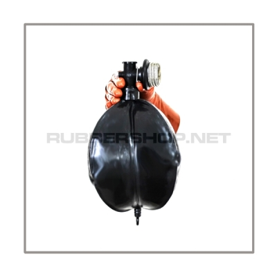 Rebreathing bag RB-W5 with angled gasmaskthread-port, breathingreduction-adaptor and 5 litre volume