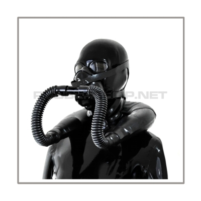 Neckrespirator-rubbersmellbag-mask-system AIR-SB-H with t-joint and head-harness