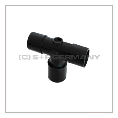 Mediport-T-Stueck T-MEDI-2 mit  2x 22mm Mediport Male und 22mm Mediport Female