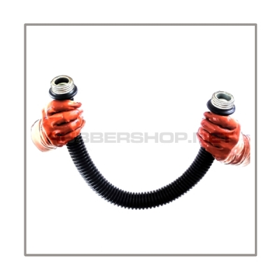 Gasmask-tube T50-D-MM highly flexible with length 50 cm = 20 inch and gasmask-connectorthreads male to male