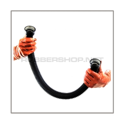 Gasmask-tube T50-D-FF highly flexible with length 50 cm = 20 inch and gasmask-connectorthreads female to female