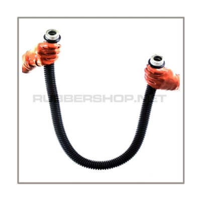 Gasmask-tube T100-D-MM highly flexible with length 100 cm = 40 inch and gasmask-connectorthreads male to male