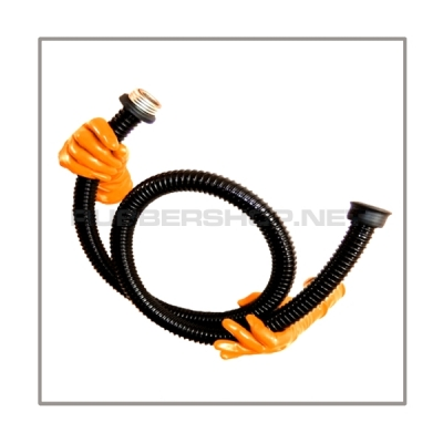 Gasmasktube T150-PVC with length 150 cm = 60 inch and gasmask-connectorthreads male zu female
