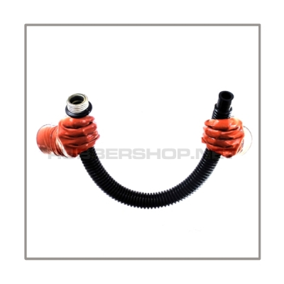 Gasmask-tube T50-D-M highly flexible with length 50 cm = 20 inch and gasmask-connectorthreads male to 22 mm mediport female