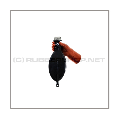 Rebreathing bag RB-G1 with gasmaskthread-port, breathingreduction-adaptor and 1 litre volume