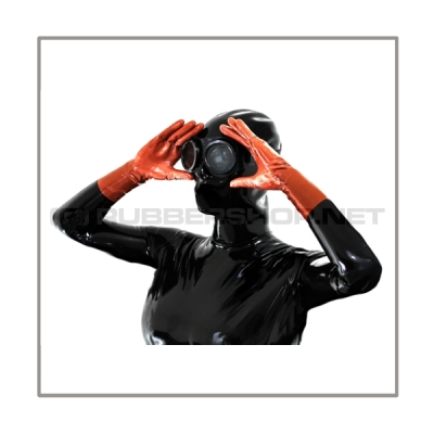 Black latex glasses G-STEAM