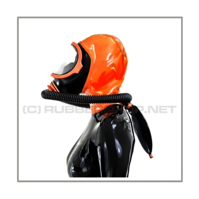 Deluxe CLIMAX gasmask-zipperhood-system PROTECT-X with ringtube-set and rebreathing-bag