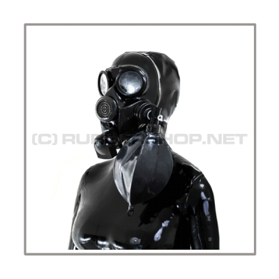 Deluxe GP7 gasmask-zipperhood-system BUBBLE-G with inhaler-set, tube- and rebreathing-bag-set
