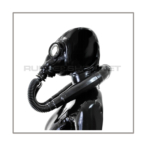 Deluxe M41-GP5 gasmask-zipperhood-system SMELLBAG-M with neckrespirator-rubbersmellbag-set