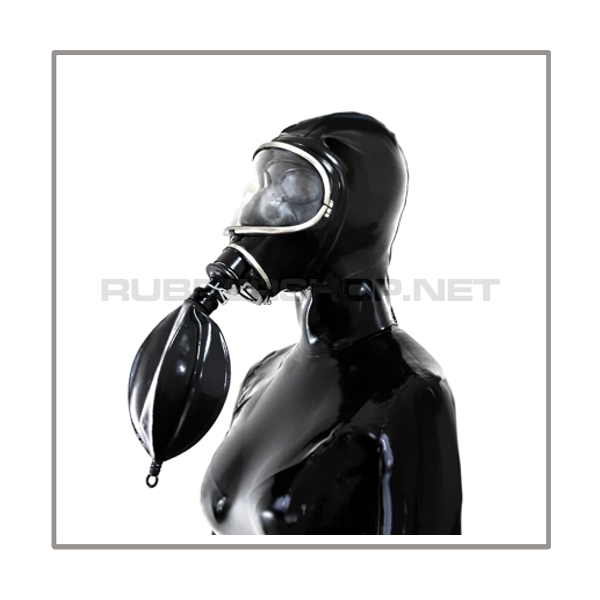 Deluxe MSA-AUER gasmask-zipperhood-system BUBBLE-3S with inhaler-set, tube- and rebreathing-bag-set