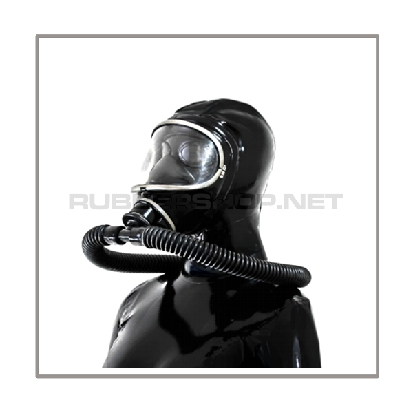 Deluxe MSA-AUER gasmask-zipperhood-system PROTECT-3S with ringtube-set and rebreathing-bag