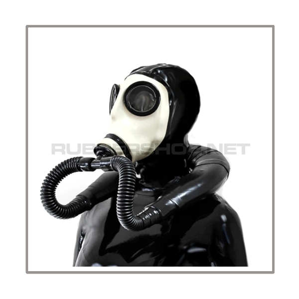 Deluxe Z56 gasmask-zipperhood-system SMELLBAG-Z with neckrespirator-rubbersmell-bag-set