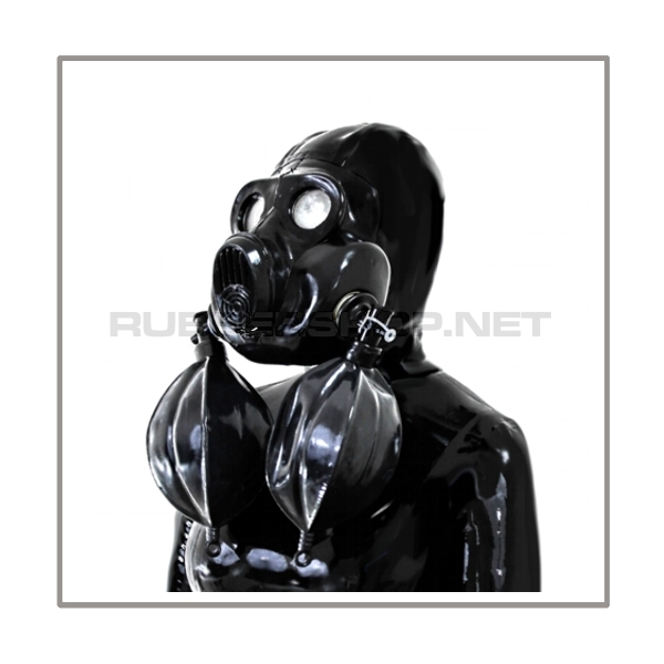 Deluxe PBF gasmask-zipperhood-system HEAVY-2B with 2 rebreathing-bags-sets and thread-cover