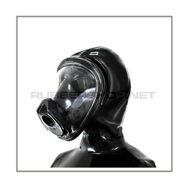 Deluxe Draeger FUTURA gasmask-zipperhood-system PROTECT-D with ringtube-set and rebreathing-bag
