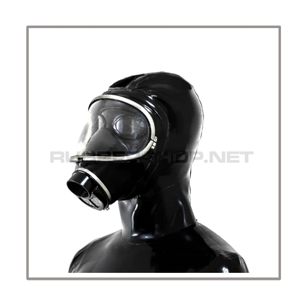 Deluxe MSA-AUER gasmask-zipperhood-system SMELLBAG-3S with neckrespirator-rubbersmell-bag-set