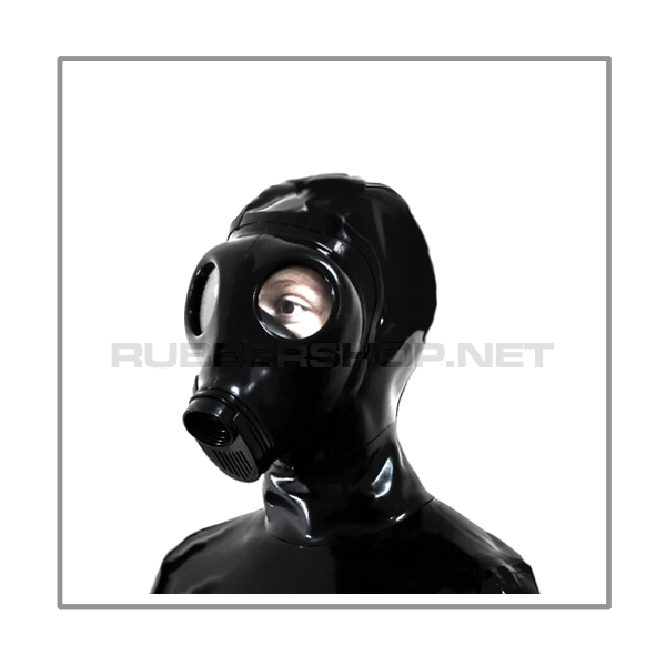 Deluxe M85 gasmask-zipperhood-system HEAVY-I with rebreathing-bag-set