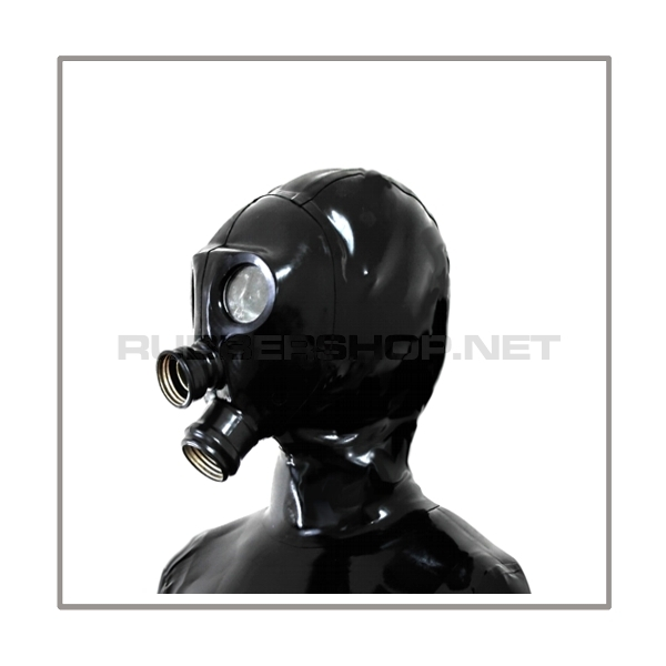 Delxue gasmask-zipper-hood HR-N with 2 gasmask-threads and thread-cover - model NEORGA