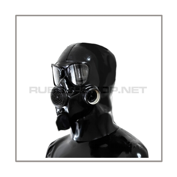 Deluxe gasmask-zipper-hood HR-P with thread at the side - model PMK
