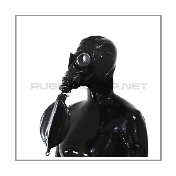 M41-GP5 gasmask-system HEAVY-LB-M with separate openface-hood and rebreathing-bag-set