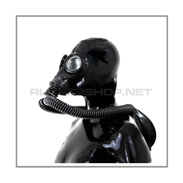 M41-GP5 gasmask-system PROTECT-LB-M with separate openface-hood, circulation-tube-set and rebreathing bag