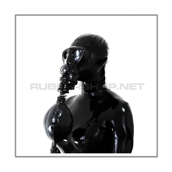 SIMIAN gasmask-system HEAVY-LB-A with separate openface-hood and rebreathing-bag-set