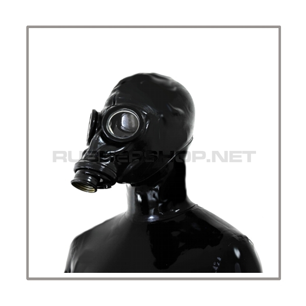 M41-GP5 gasmask-system BUBBLE-LB-M with separate openface-hood, inhalerset, tube- and rebreathing-bag-set