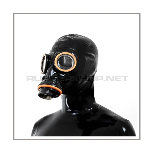 M41-GP5 gasmask-system SMELLBAG-LB-M with neckrespirator-rubbersmell-bag-set