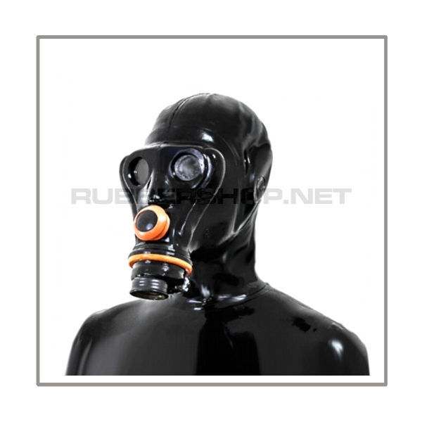 SIMIAN gasmask-system SMELLBAG-LB-A with separate openface-hood and neckrespirator-rubbersmell-bag-set