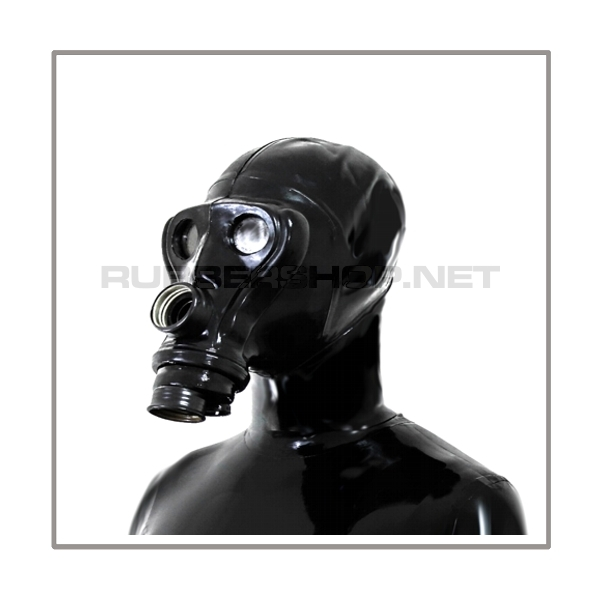SIMIAN-gasmask-set TWIN-A2-BLACK with 2 gasmask-threads, thread-cover, separate openface-hood and sunglasses-stickers