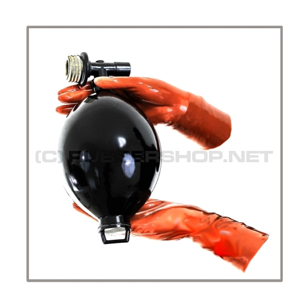 Breathing blower bag PRESSURE-T with 22 mm medical-port and gasmask-thread-connector