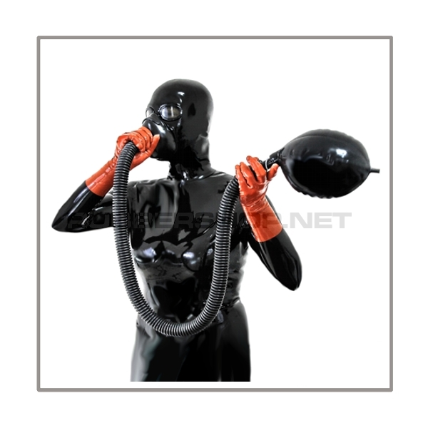 Respiratormask-system AIR-T2 with 100 cm = 40 inch tube, breathing-reduction-adaptor and rebreathing-bag 2 litre
