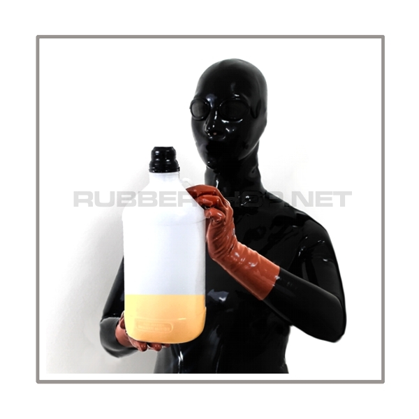 Inhalator-set SMELL-TWO-R-G silent-mode with breathing-reduction-adaptor, rebreathing-bag, 2 litre aroma-container and flexible medical-tube with gasmask-connector-thread